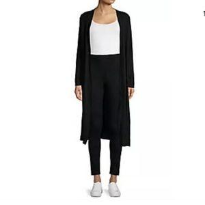 Tahari 100% merino wool long cardigan Sz 3X